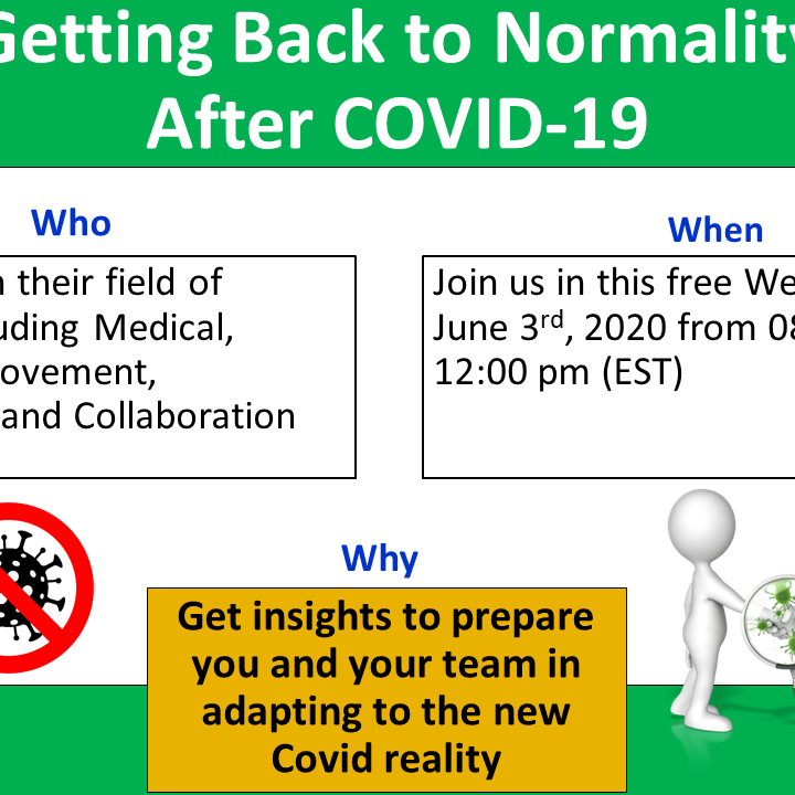 A+I Virtual Conference: Getting Back to Normality After COVID-19