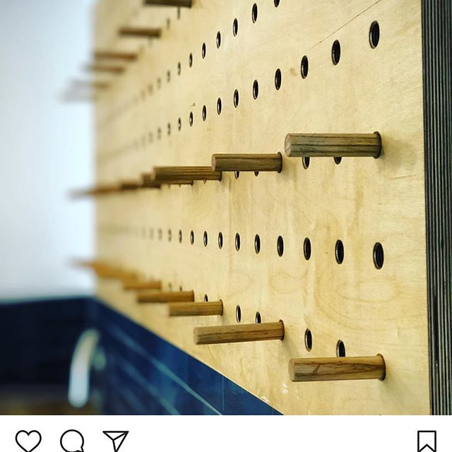 A bespoke made peg board, ready for the team to put their #tea and #coffee cups on