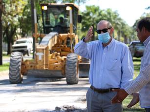 Estamos cumpliendo con el pedido de los vecinos y la repavimentación de Avenida Santa Fe está en marcha