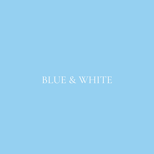 BLUE & WHITE FLOWER BOX
