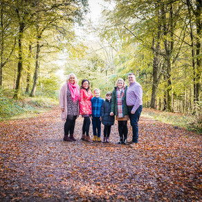 A family autumn shoot