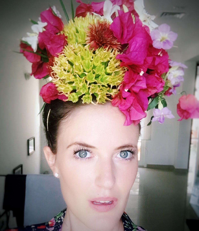 Dubai World Cup Flower Hat, Option 1.