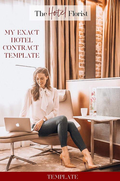 My Exact Hotel Contract Template