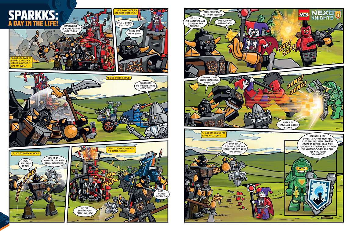 Nexo Knights Comic- 2 page spread