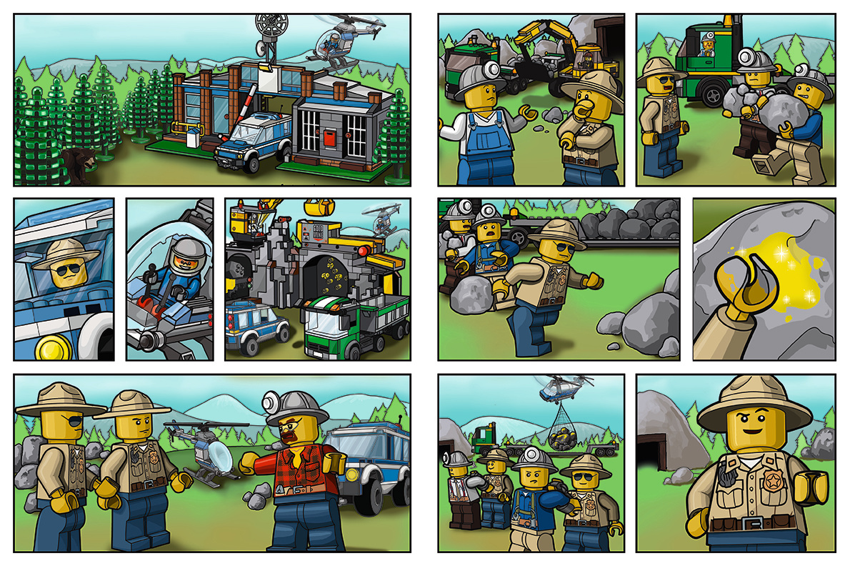 City Miners- 2 page spread