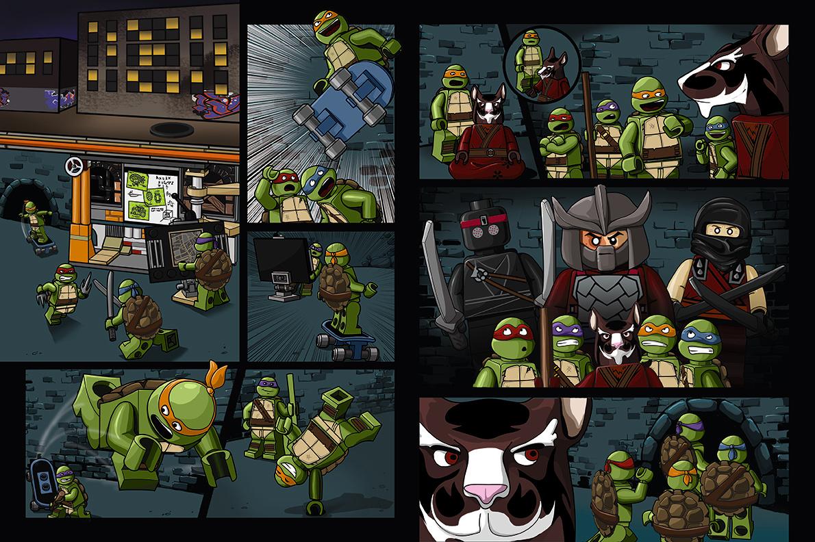 TMNT- 2 page spread
