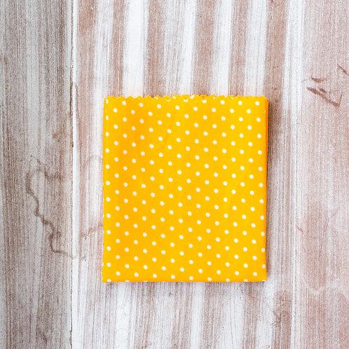 "Bienenwachstuch ""yellow dots"" Gr. S"