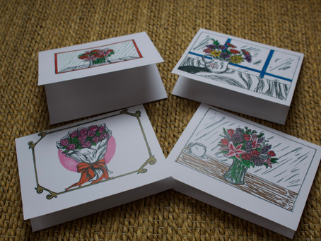 Handmade cards right here in Willowdale created by Student and Entrepreneur Ella M.