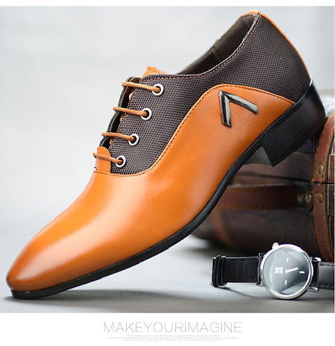 Male Shoes Men Business Formal Wear Leather Extra Large Code Casual