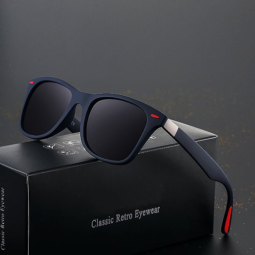 Men Classic Polarized Square Frame Sun Glasses