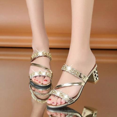 Women's High Quality Diamond Slippers
