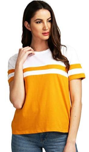 Raabta Musterad and White Stip Stylish T-shirt