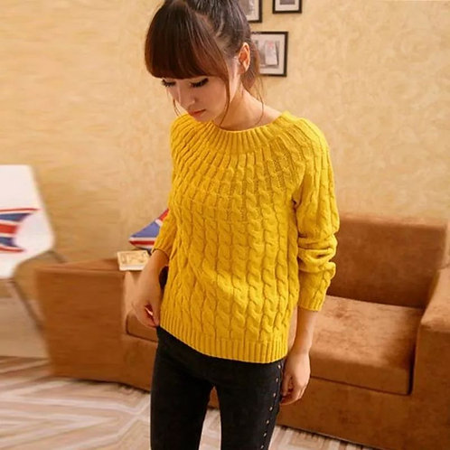 Warm Knitted Sweater Free Size
