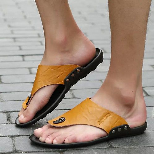 Leather Men's Slippers