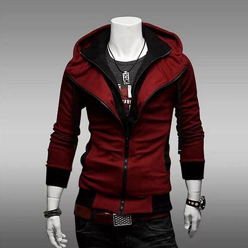 Fashion Hoodies Men Casual Sportswear Zipper Long-sleeved Sweatshirt