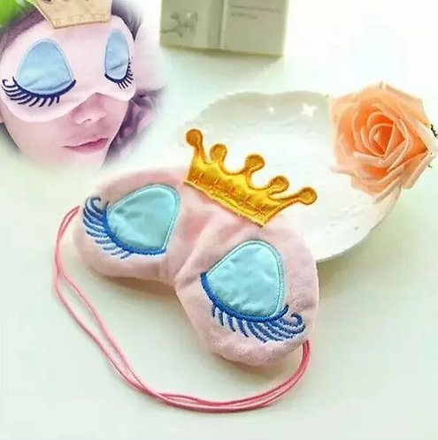 Lovely Princess Sleep The Wind Mask Warmth Crown Long Eyelash Super Cartoon Shad