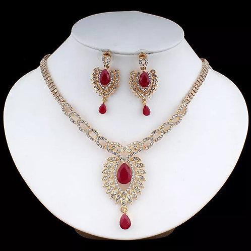 Jewelry Set Wedding Dress Accessories Crystal