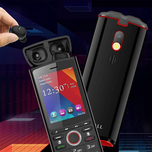 IKALL K44 2.8 inch Display with Inbuilt Bluetooth Earphone (Red/ Dual SIM)