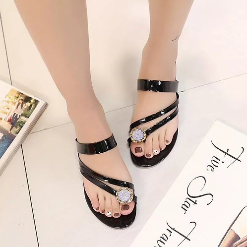 Rome Toes Crystal Slippers