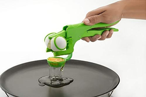 Pithadai Plastic Handheld Egg Cracker with Separator for Raw Eggs