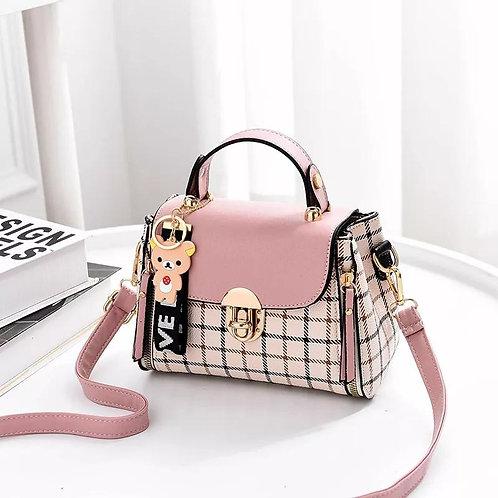 Ms Packet Package Fashion Shoulder Oblique Across Lattice Simple Handbag