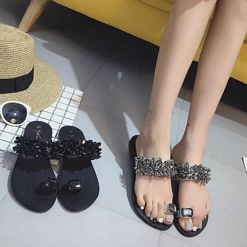 Toe Sandals And Slippers Women's Summer New Flat-bottom Wear Beach Slippers