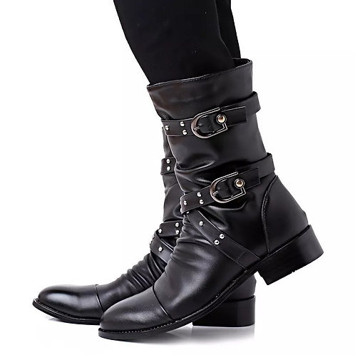 Winter British Style Leather Boots