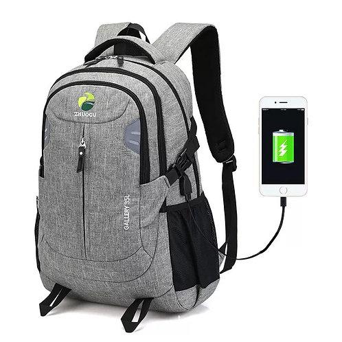 High-capacity USB convenient charging men and women shoulder bag anti-theft