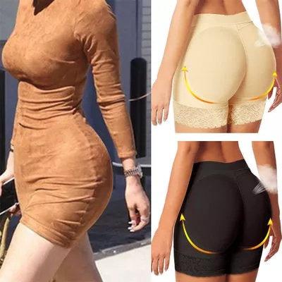 Lace Padded Seamless Butt Hip Enhancer Shaper Pants Panties Underwear