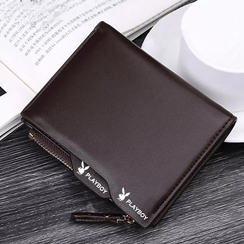 Men's Wallet Leather Multi Card Folding Bag Youth Zipper Wallet