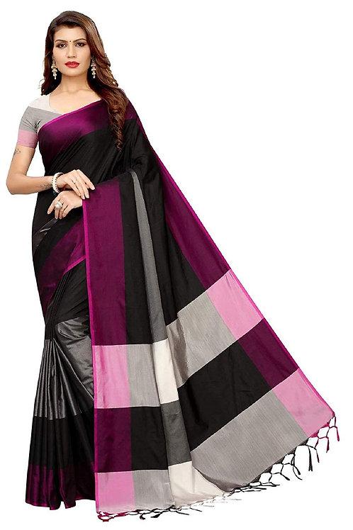 VAIVIDHYAM Art Silk Saree with Blouse Piece