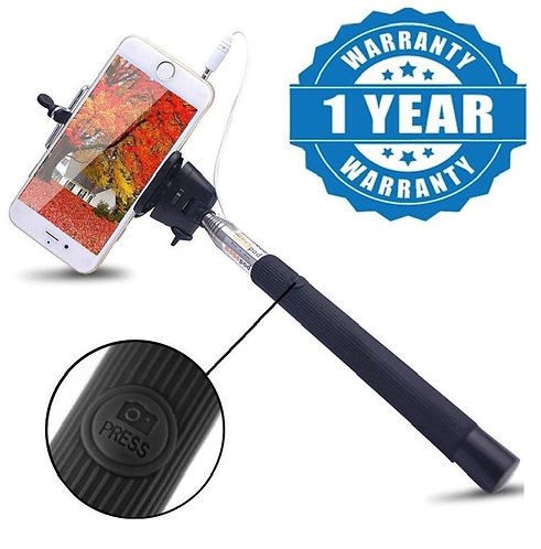 Captcha xtendable Selfie Handhold Stick Monopod with 3.5mm USB Cable