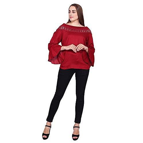 chauhan maroon Designer top