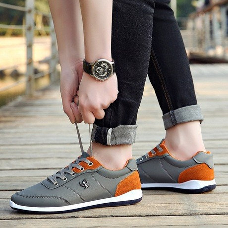 Men Casual Breathable Lace Up Comfortable Outdoor Shoes