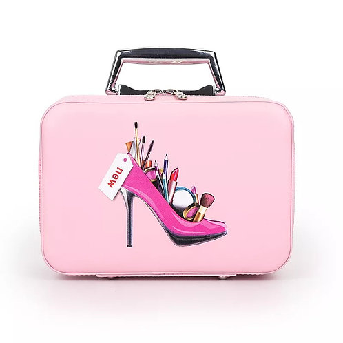 Large Capacity Double Deck Cosmetic Bag