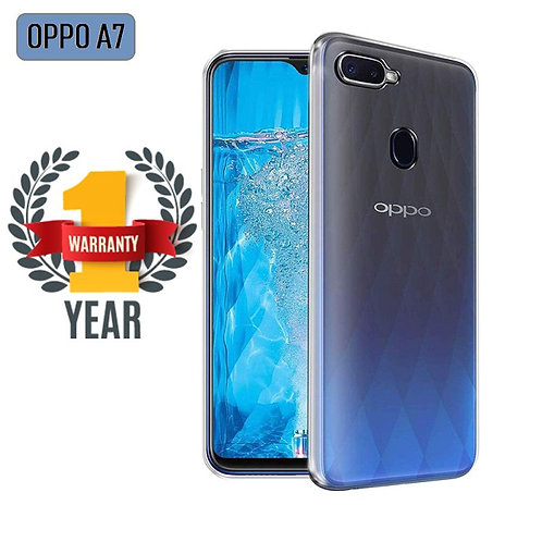 OPPO A7 Mobile Protective Back Case Cover (Transparent)