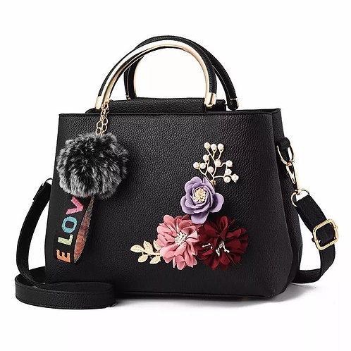 Three-dimensional Flower Iron Ring Shoulder Messenger Bag