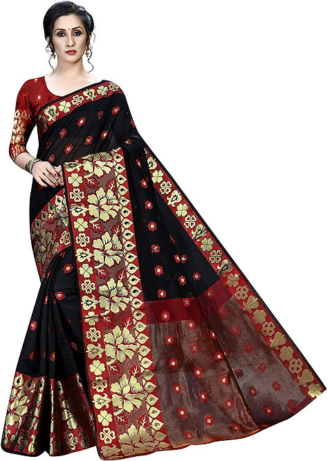 Regolith Designer Sarees Banarasi kanjivaram Style cotton silk multi-colored