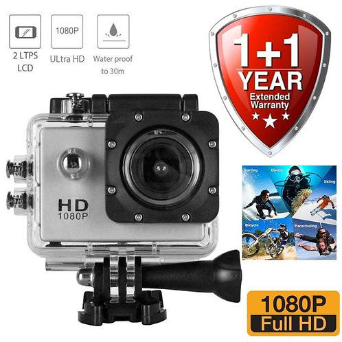 "Forestone 1080P Full HD 12MP Waterproof 30m 2"" LCD 170 Degree Wide-Angle Sports"