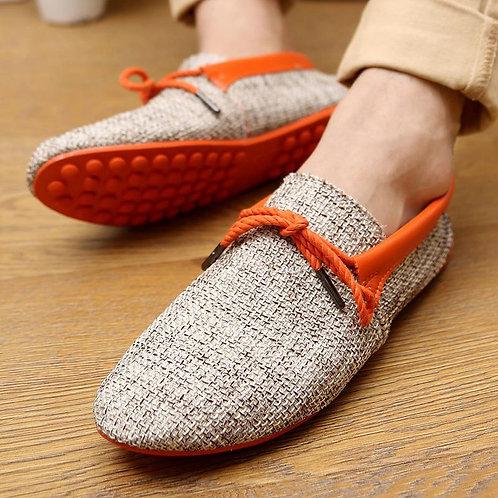 Men's Linen Lace Beggars Explosive Shoes