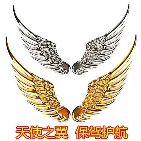 Angel Wings Car Signs Metal Cars Gilded Three-dimensional Hawk Wings