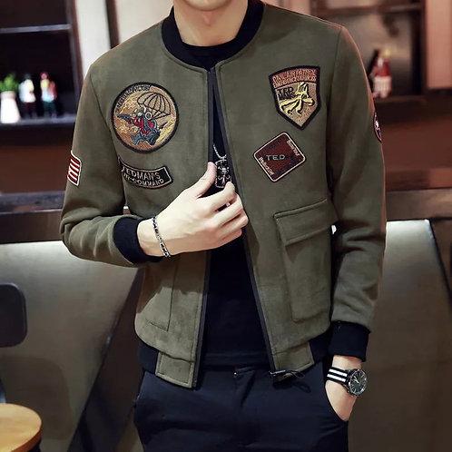 Mens Clothing Long Sleeves Casual Zipper Coat