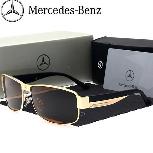 Men Box Polarized Sunglasses Mercedes-benz Brand
