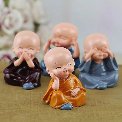 Set Of Price Kung Fu Four Little Buddhist Monks Car Ornaments Lovely Accessories