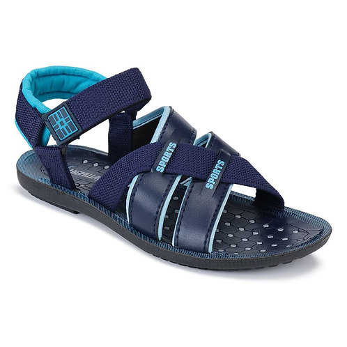 Bersache Men Blue-1185 Casual Flats, Sports, Slipper, Sandals