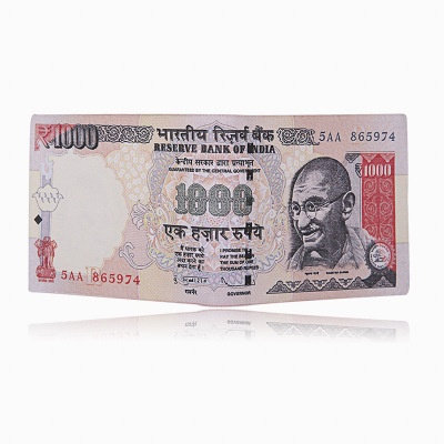 India Currency Wallet Men Leather Wallets Purse Short Male Clutch Money Bag Doll
