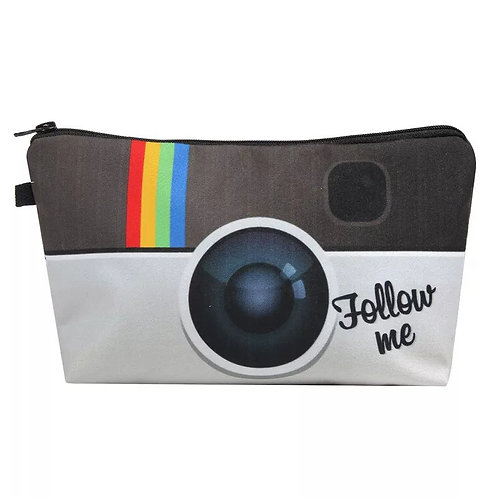 Rainbow Camera Print Makeup Bag Makeup Bag