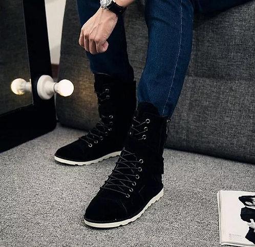 Men Casual Canvas Boots