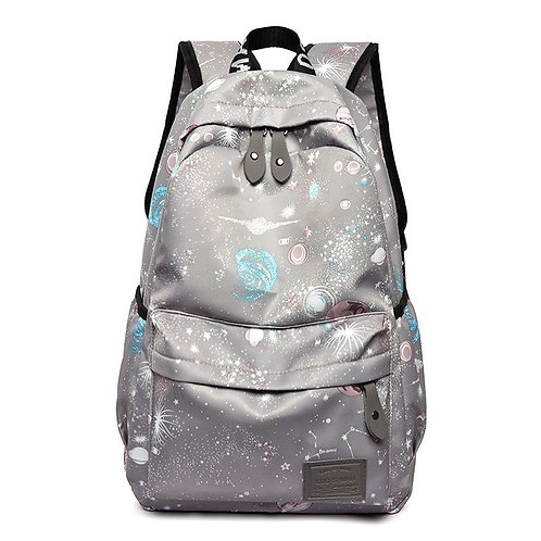 Starry Sky Backpack Travel Middle School Student Bag