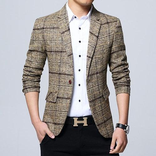 Brand Clothing Men Blazer Fashion Slim Male Suits